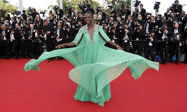 A light breeze added the finishing touches to a design that was made with the red carpet 'Wow' factor. In this case, Gucci and Lupita Nyong'o stolel the show.