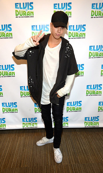 "August 24: Justin Bieber stopped by the Elvis Duran show to promote his latest single ""What Do You Mean.""