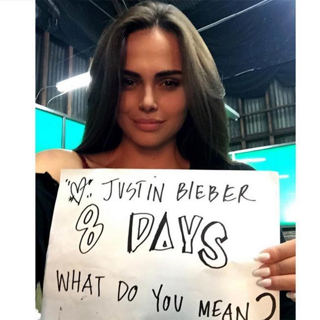 "Justin's ""What Do You Mean"" is not the first video she has been in. In 2013, Xenia appeared in Calvin Harris' ""Thinking About You.""