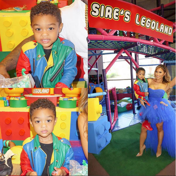 50 Cent throws son Sire a lavish Lego party for his 3rd ...