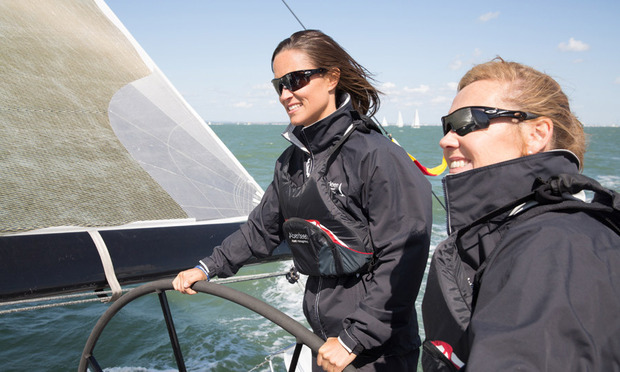 She can sail! Pippa took the wheel during The Aberdeen Asset Management Cowes Week, a charity event. 