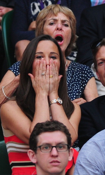 She's  got game. The enthusiastic socialite wasn't afraid to show emotion during Wimbledon.