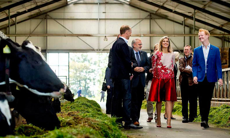 September 9: Queen Maxima paid a visit to a dairy farm in Koudum, Netherlands. 