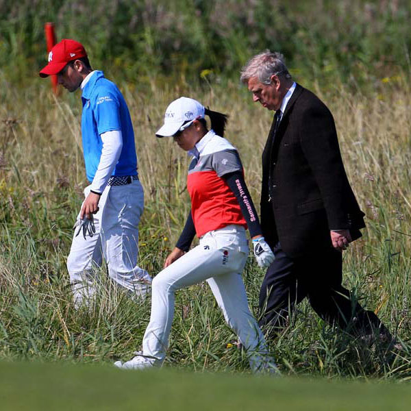 September 9: Prince Andrew helped golfers look for a ball during day one of the Duke of York Young Champions Trophy in London.