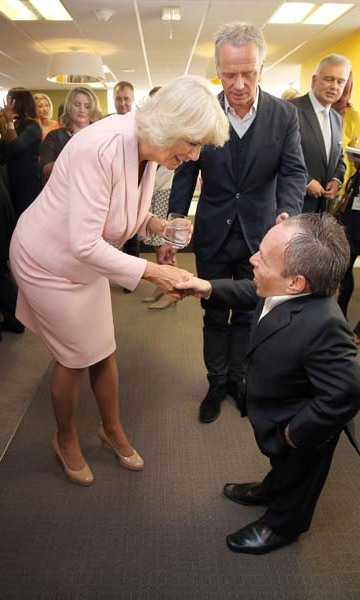 September 9: Camilla, Duchess of Cornwall, greeted Warwick Davis during her visit to ITV Studios in London.