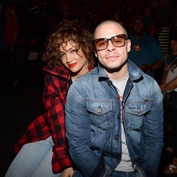 "September 16: Date night! Jennifer Lopez and Casper Smart enjoyed a night out at Madonna's ""Rebel Heart"" tour at Madison Square Garden in NYC. 
