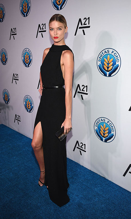 September 16: Martha Hunt treated the blue carpet like her very own runway at the inaugural UNITAS Against Sex Trafficking gala in NYC.   
