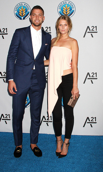 September 16: Confirmed! NBA star Chandler Parsons and Toni Garrn made their red carpet debut as a couple during the UNITAS  Against Sex Trafficking gala. 