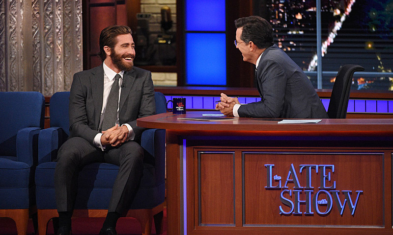 September 15: Jake Gyllenhaal dished about Amy Schumer eating his frozen cake to Stephen Colbert during his appearance on 'The Late Show.'