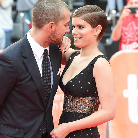 September 15: Shia LaBeouf and Kate Mara got close during the red carpet for their new film 'Man Down' at the Toronto International Film Festival.