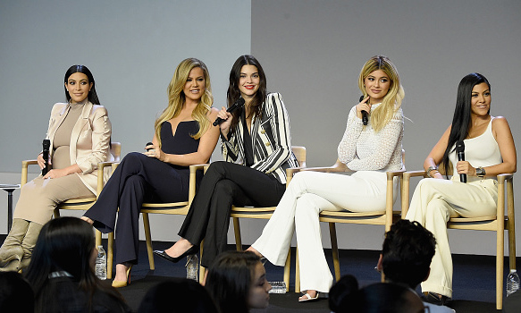 September 14: The Kardashian-Jenner ladies took over the Apple store in Soho (and Fashion Week) to announce their new line of all access apps with the brand. 