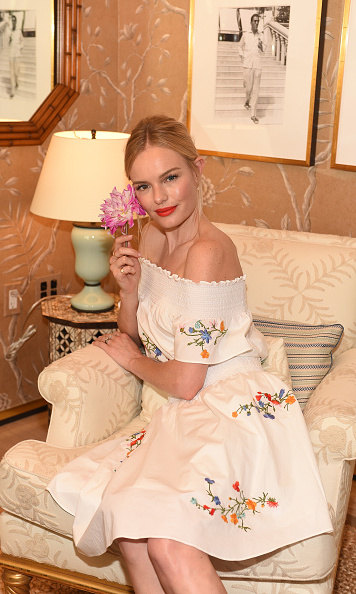 September 18: Kate Bosworth was a summery vision during Glamour's Women to Watch lunch where guests sipped champagne provided by Perrier-Jouët at the Tory Burch boutique in Beverly Hills.