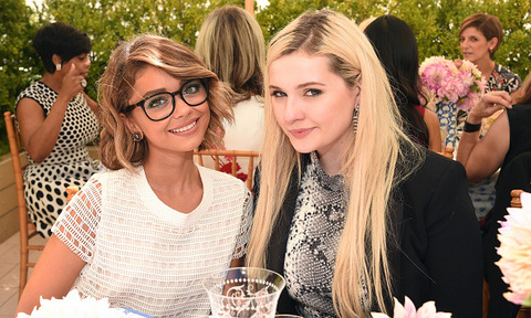 September 18: Sarah Hyland and Abigail Breslin enjoyed lunch during Glamour's Women to Watch event at Tory Burch's boutique in Beverly Hills.