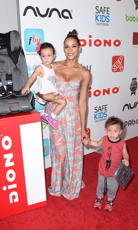 September 19: Dania Ramirez, in Parker, brought her twins Gaia and Aether to Favored.By Presents the 4th Annual Red CARpet Safety Awareness Event in L.A.