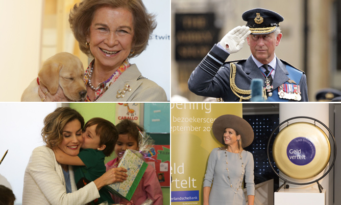 Queen Sofia of Spain cuddles up to an adorable puppy and so many more royal highlights of the week.