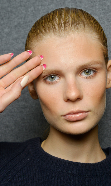 Great tip! Dsquared2 models rocked a long pale nail, with a bright pink hue underneath. 
