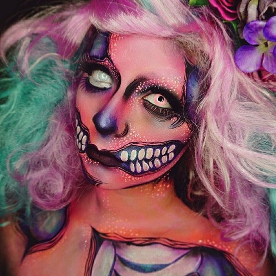Being dead doesn't mean you can't be colorful! Brighten up Halloween like Dehsarae Mahrae.