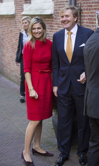 King Willem Alexander of the Netherlands and Queen Máxima attended a China in the Netherlands lecture, ahead of their state visit to China next month.<br>