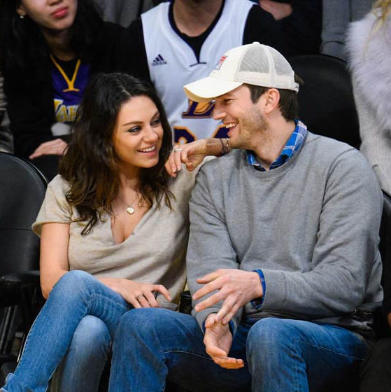 Mila Kunis and Ashton Kutcher <BR>