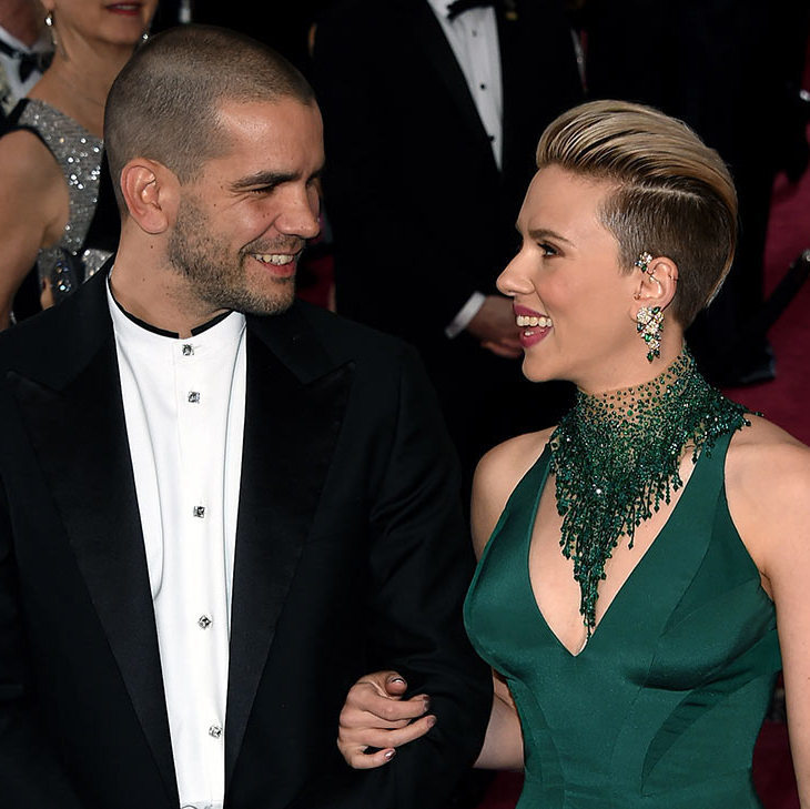 Scarlett Johansson and Romain Dauriac <BR>