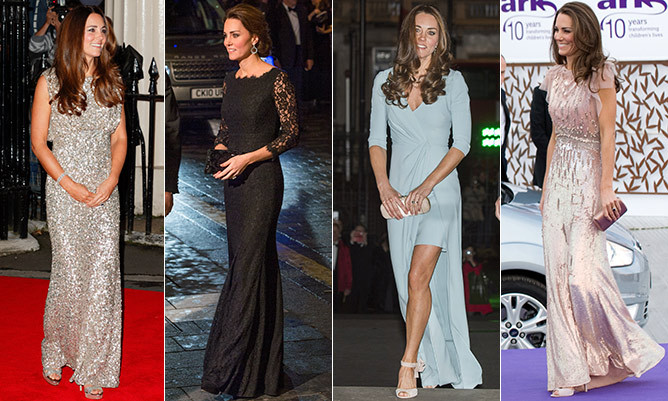 As Kate Middleton prepares to attend her first-ever state banquet at Buckingham Palace on Tuesday, we take a look back at her best sartorial choices from past high profile events. <br>