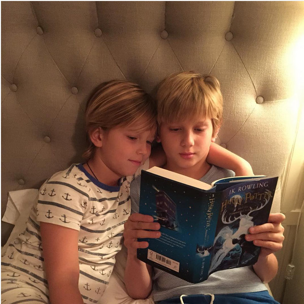 Princess Marie-Chantal of Greece's sons Prince Odysseus and Prince Aristidis showed they are Harry Potter fans. <br>