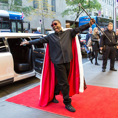 October 15: Welcome home! Tracy Morgan made a grand entrance into New York City's NBC building for his 'Saturday Night Live' rehearsal.
