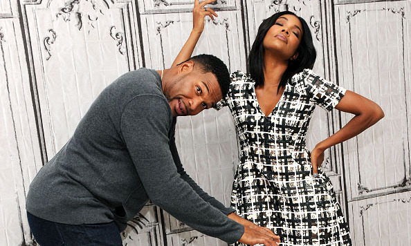 October 14: Michael Strahan and Gabrielle Union had some fun during AOL's BUILD event in New York City. 