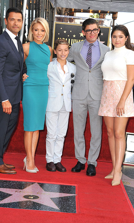 October 12: Kelly Ripa and Mark Consuelos' kids looked all grown up during Kelly's Hollywood Walk of Fame ceremony in Los Angeles, California. 
