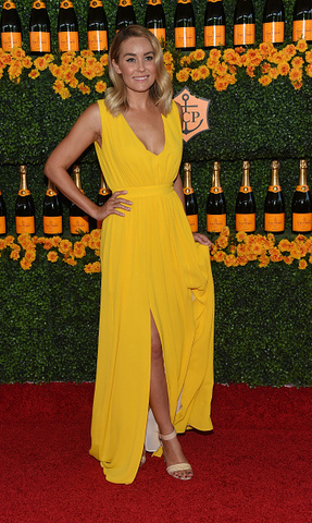 October 17: Lauren Conrad was certainly cheery in yellow at the Veuve Clicquot Polo Classic at Will Rogers State Historic Park in Pacific Palisades, California.