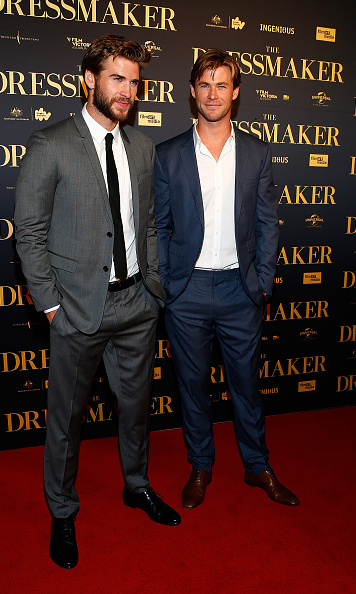 October 18: Chris Hemsworth supported younger brother Liam at his premiere for 'The Dressmaker' in Melbourne.