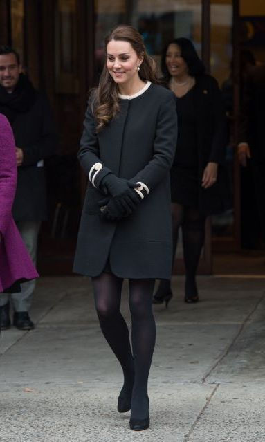 For a visit to Harlem, NY, Kate went with Goat's 'Washington' style, in December 2014.