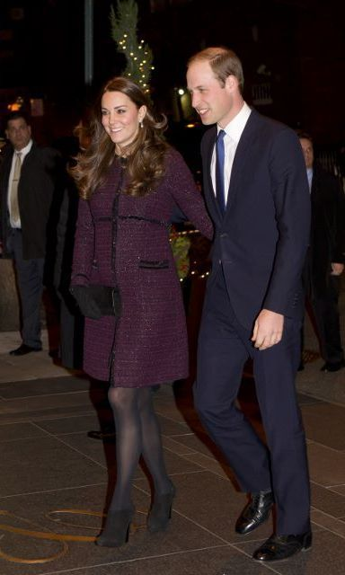 Kate, who was 5 months pregnant with the couple's second child during their December 2014 trip to New York, wore the Séraphine 'Marina' coat for one evening soirée.