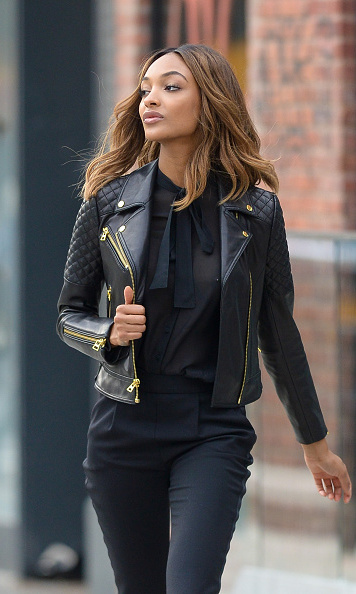 Celebrity Inspiration How To Wear A Black Leather Jacket