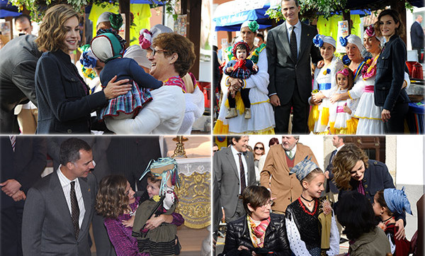 King Felipe of Spain and Queen Letizia had a wonderful time visiting Town Of The Year 2015, Colombres, Spain.<br>