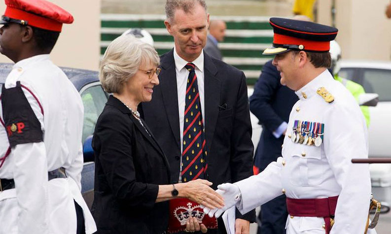 The Duchess of Gloucester visited Bermuda to mark the 50th Anniversary of the Royal Bermuda Regiment.