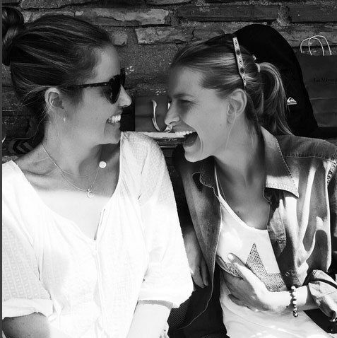 "Princess Tatiana of Greece, right, used Instagram to give a birthday shout-out to her sister: ""HAPPY BIRTHDAY SISTER! Without a doubt we share the best laughs & giggle attacks! Contagious #laughter #laughterasmedicine see u soon @anouchkablatnik.""<br>