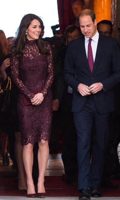 Scoring serious style points, Kate went for an Italian luxe label, wearing an eggplant Dolce & Gabbana guipure lace dress which is priced at $3,495. <br>