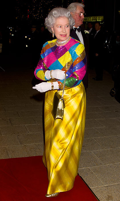 The Queen attended the Royal Variety Performance at the Birmingham Hippodrome in 1999.