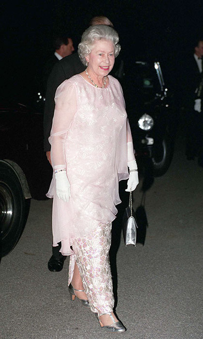 The Queen during a banquet at the Finnish Residence in London in 1995.