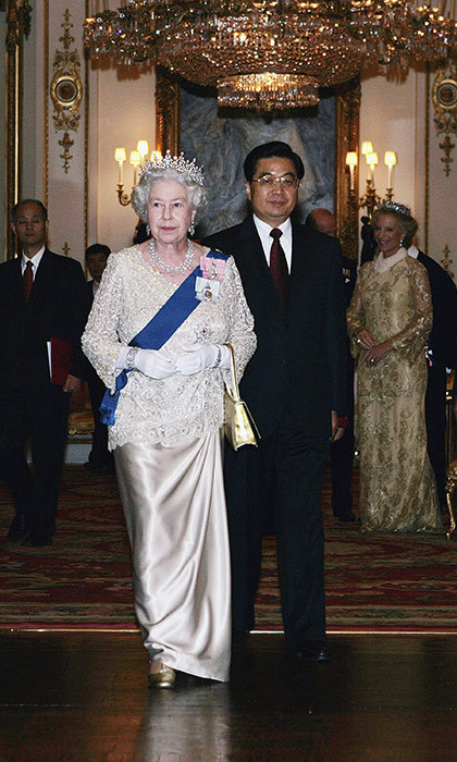 The Queen attended a state banquet in Buckingham Palace with Mr Hu Jintao, President of the People's Republic of China, in 2005.