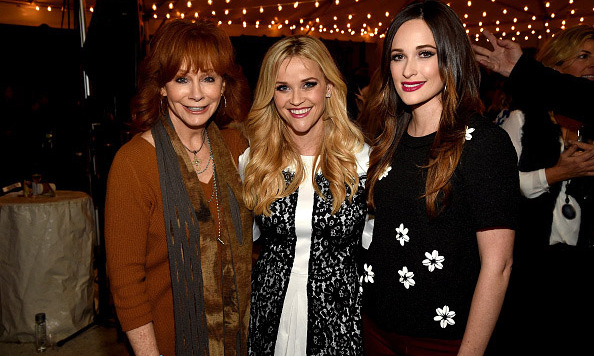 October 28: Southern charm! Reese Witherspoon had the support of country superstars Reba McEntire and Kacey Musgraves during the opening of her Draper James flagship store in Nashville. 