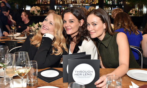 October 26: Ladies who lunch! Patricia Clarkson, Katie Holmes and Olivia Wilde caught up during the Tribeca Chanel Women's Filmmaker Program Luncheon in New York City.