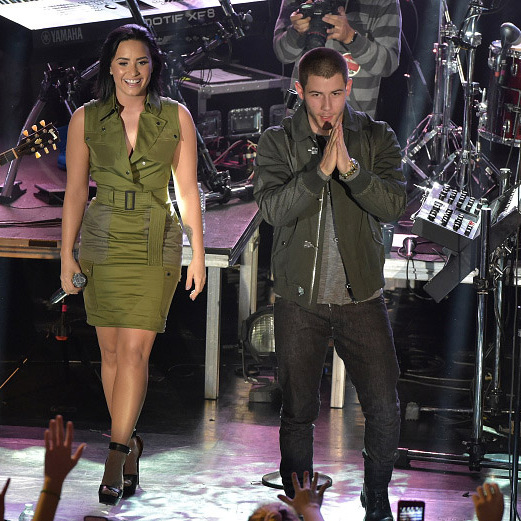 "October 26: Get ready to rock! Demi Lovato and Nick Jonas performed at their ""Future Now"" tour kick off concert in New York City. 