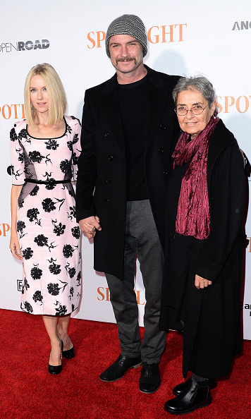 October 27: Liev Schreiber was joined by Naomi Watts and his mother Heather Schreiber at the premiere of 'Spotlight' in NYC.