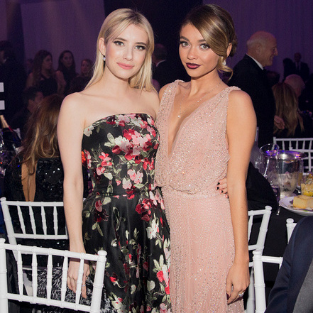 October 29: Emma Roberts hung with Sarah Hyland at the MAC Viva Glam sponsored amfAR gala that raised $3.1 million for life-saving AIDS research programs in L.A.