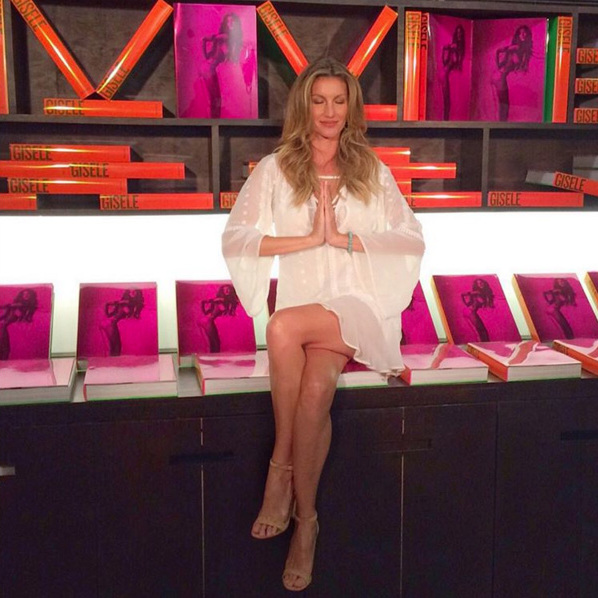 November 6: White hot! Supermodel Gisele Bündchen traveled home to Brazil to promote her brand new coffee table book. 