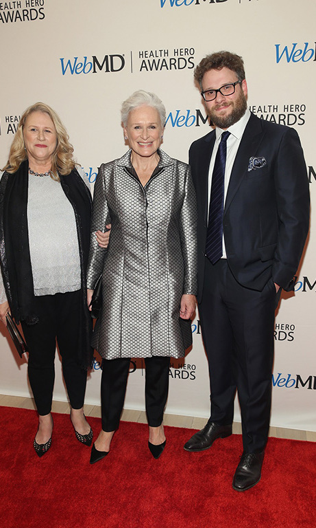 November 5: Seth Rogan and Glenn Close and her sister Jessie celebrated WebMD's 2015 Health Care Heroes in New York City. 