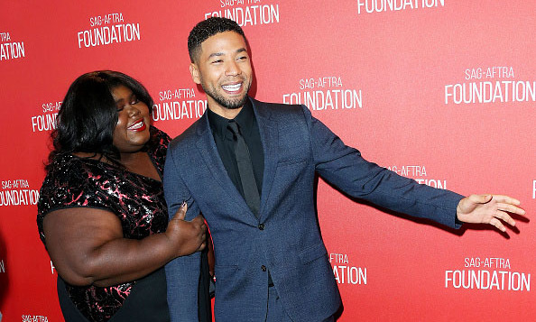 November 5: An empire of love! Gabourey Sidibe and Jussie Smollett attended the Screen Actors Guild's 30th Anniversary celebration in Beverly Hills. 