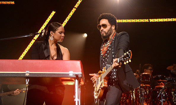 November 5: Girl on fire! Alicia Keys took the stage with Lenny Kravitz at her 12th Annual Keep A Child Alive Black Ball in New York City. 